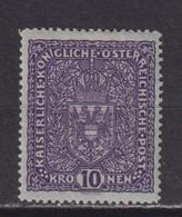 AUSTRIA  -  1916-19 10k Hinged Mint - Ongebruikt