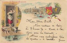 REF4879/ CP-PK Bruxelles Souvenir De Venise à BXL TP 56 BXL 1895 > Mons C.d'arrivée - Viste Panoramiche, Panorama