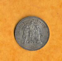 PIECE 50 FRANCS ARGENT  TYPE HERCULE - 1977 - M. 50 Francs