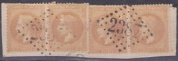 1862 2 Paire N°21 Oblitéré GC 2387 De Monaco - 1862 Napoleon III