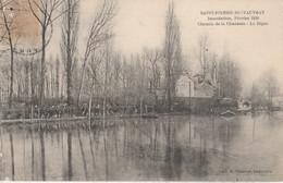 27 - SAINT PIERRE DU VAUVRAY - Inondation, Février 1910 - Chemin De La Chaussée - La Digue - Autres Communes