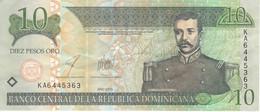 BILLETE DE REP. DOMINICANA DE 10 PESOS ORO DEL AÑO 2003 SERIE KA EN CALIDAD MBC (VF) (BANKNOTE) - Dominicana