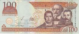 BILLETE DE REP. DOMINICANA DE 100 PESOS ORO DEL AÑO 2006 SERIE FU CALIDAD EBC (XF) (BANKNOTE) - Dominicana