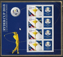 France 2018 Bloc N° 144 Neuf Golf Ryder Cup Tirage 45 000 Cote 45 Euros - Mint/Hinged