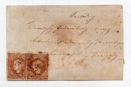1872. SERBIA,SABAC TO BELGRADE,2 X 10 PARA KING MILAN,PERF 91/2,LEFT STAMP WITH PLATE ERROR ''40'' - Serbia