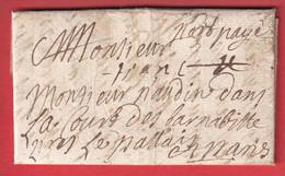 MARQUE PORT PAYE + FRANC LE MANS SARTHE LN°8A INDICE 18 POUR LE MANS LETTRE LOCALE - 1701-1800: Precursori XVIII