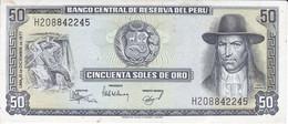 BILLETE DE PERU DE 50 SOLES DE ORO DEL AÑO 1977 CALIDAD EBC (XF) (BANKNOTE) - Peru