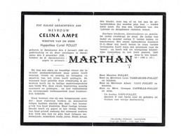 DOODSPRENTJE AMPE CELINA WEDUWE POLLET HANDZAME 1886 - 1959 - Devotion Images