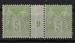 Sage Y&T N° 102 ** (trace De Charnière Sur La Bande) - 1898-1900 Sage (Type III)