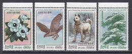 2017 North Korea DPR National Symbols Dog Eagle Flowers  Complete Set Of 4 MNH - Korea (Nord-)