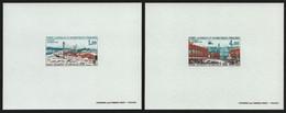 TAAF 1976 - Mi-Nr. 101-102 ** - MNH - Epreuve De Luxe - Base Durmont D'Urville - Ongetande, Proeven & Plaatfouten