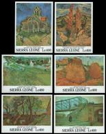 Sierra Leone 1991 - Mi-Nr. Block 159-164 ** - MNH - Gemälde - Van Gogh - Sierra Leone (1961-...)