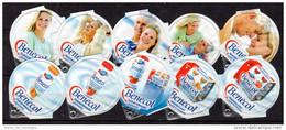 Opercules De Creme à Café, KRD Suisse, Série 1424, Complète; Benecol - Milk Tops (Milk Lids)