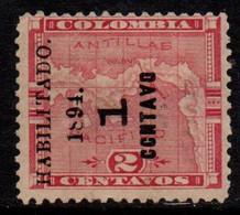 "M751H - PANAMA - 1894 -  SC#: 23a - MH - ""CCNTAVO"" INSTEAD OF CENTAVO - Panama"