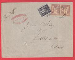 N°83 85 PAIRE CAD TROARN CALVADOS 1901 PAPIERS AFFAIRES POUR DIVES SUR MER - 1877-1920: Période Semi Moderne