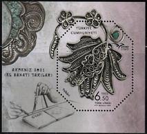 2021 Turkey Euromed: Handicraft Jewelry Souvenir Sheet (** / MNH / UMM) - Unused Stamps