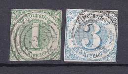 Thurn Und Taxis - 1859/61 - Michel Nr. 20/21 N4 - Gestempelt - 40 Euro - Thurn And Taxis