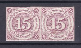 Thurn Und Taxis - 1859/61 - Michel Nr. 24 Paar - Ungebr. - Tour Et Taxis