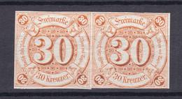 Thurn Und Taxis - 1859/61 - Michel Nr. 25 Paar - Ungebr. - Tour Et Taxis