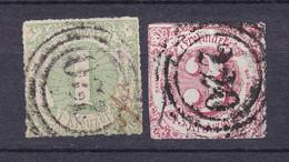 Thurn Und Taxis - 1865 - Michel Nr. 41/42 N4 - Gestempelt - 30 Euro - Tour Et Taxis