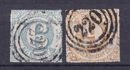Thurn Und Taxis - 1865 - Michel Nr. 43/44 N4 - Gestempelt - 50 Euro - Tour Et Taxis