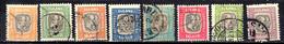 1907 Iceland Official Stamps / Dienstmarke King Chirstian IX And Frderik VIII Set Used MiNr. 24-31 - Dienstzegels