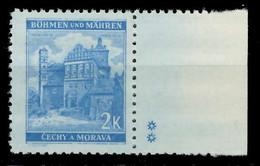 BÖHMEN MÄHREN 1941 Nr 70bPlSt2R Postfrisch X82854A - Nuovi