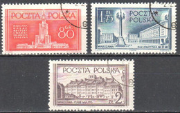 Poland 1953 - Rebuilding Warsaw 824-26 - Used - Usati