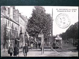 92  , Boulogne Sur Seine  ,passage Du Tramway Chaussée Du Pont En 1934 - Boulogne Billancourt