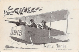 1914 - Thème Aviation, Bonne Année, Guerre ............... - Guerra 1914-18