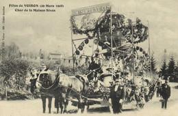 Fetes De VOIRON (29 Mars 1908 ) Char De La Maison Sivas  RV - Voiron