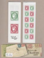 """FRANCE / 2020 / Y&T N° 5450/5453 En Carnet N° 1527 Complet ** : Carnet """"150 Ans De La Cérès De Bordeaux 1870"""" X 1 - Commemoratives"""