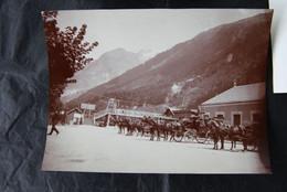 * - CHAMONIX - Lot De Deux Photos: La Gare Du Montenvers Et La Route Du Fayet à Chamonix - Luoghi