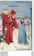 N°12632 - Oilette - Christmas 1905 From Angela Greene - Père Noël Avec Un Ange - Altri
