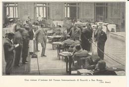 TORNEO INTERNAZIONE DI SCACCHI A SAN REMO  1930  RITAGLIO DI GIORNALE (226) - Altri