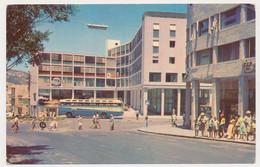 Haifa - Israel, Masaryk Square Old Bus Vintage Photo Postcard Rppc Pc - Israele
