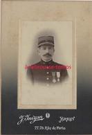 Photo Cartonnée19e Régiment--officier De Marine?  Médaillé-photo Inizan à Brest-format 10x14,3cm - Guerre, Militaire