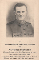 ABL, Antoine Mercier , Né à Buissenal 21 Janvier 1909 , Pour La Patrie Le 30mai 1940 à Willemstad ( Hollande ) - Overlijden