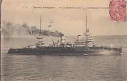 MARINE FRANCAISE - LE SAINT LOUIS CUIRASSE D'ESCADRE - Warships