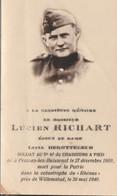 ABL, Lucien Richard  , Né à Frasnes Lez Buissenal Le 27décembre , Pour La Patrie Le 30mai 1940 à Willemstad ( Hollande ) - Overlijden