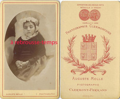 CDV  Post Mortem-fillette-photo Auguste Molle à Clermont Ferrand - Anciennes (Av. 1900)