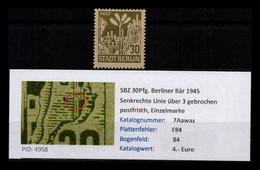 SBZ 1945 PLATTENFEHLER Nr 7Aa Waz F84 Postfrisch (402521) - Sovjetzone