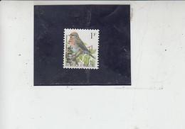 BELGIO   1992 - Unificato  2457° - Uccelli -.- - Spatzen