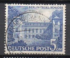 - BERLIN N° 46 Oblitéré - 5 DM. Bleu Château De Tegel 1949 - Cote 22,00 € - - Used Stamps