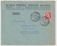 S966 - ERSTEIN - 1946 - Entête BLOCH FRERES - Type GANDON - - Alsace-Lorraine