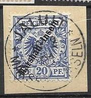 Marshall Islands VFU Jaluit 10.02.1901 30 Euros +5 Euros Fragment Cancel - Colonia: Isole Marshall