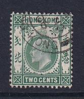 Hong Kong: 1907/11   Edward    SG92a     2c   Green   Used - Usados