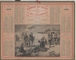 Calendrier 1904 - Plage De Rochebonne Ile Et Vilaine ...en Parfait état Et Complet - Big : 1901-20