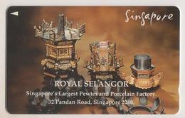 Singapore Old Phonecard Unused Pewterware - Singapore