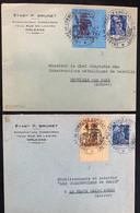 GRÈVE : 2 Lettres Avec Marianne 886 Et TIMBRE GREVE N° 2 Et 3 Obl CHAMBRE DE COMMERCE ORLEANS LOIRET Cote 315 Euro RARE - Strike Stamps